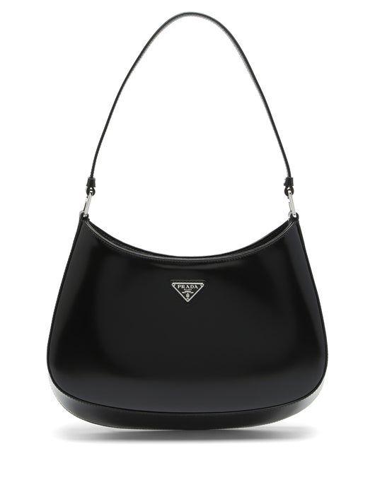 PRADA Cleo spazzolato-leather shoulder bag