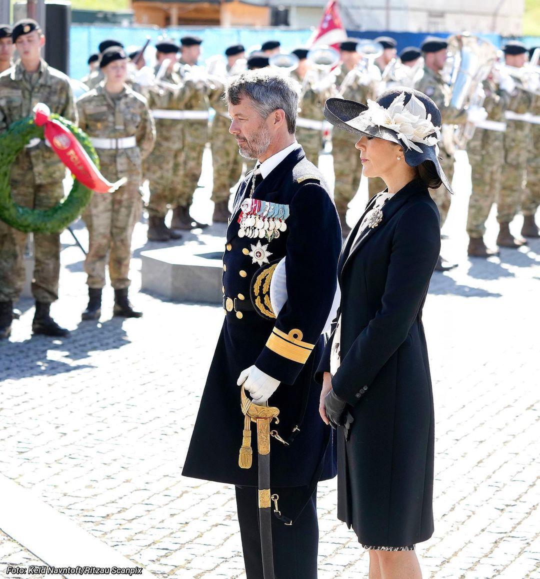 Princess Mary Denmark Prada coat maxmara dress