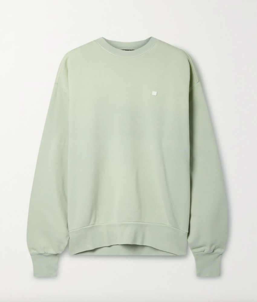 Acne Studios Oversized appliquéd cotton-jersey sweatshirt