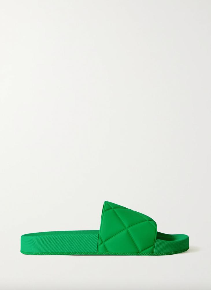 BOTTEGA VENETA Embossed rubber slides