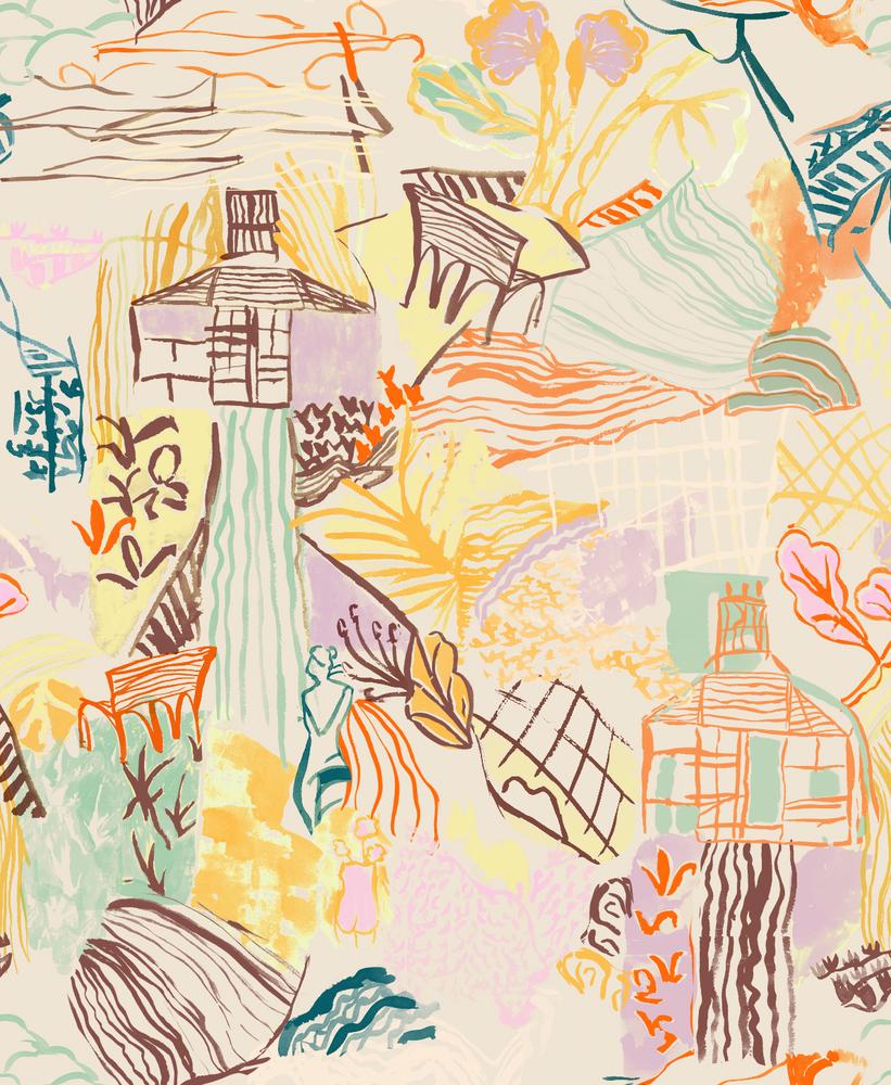 Final draft of the Charleston house print