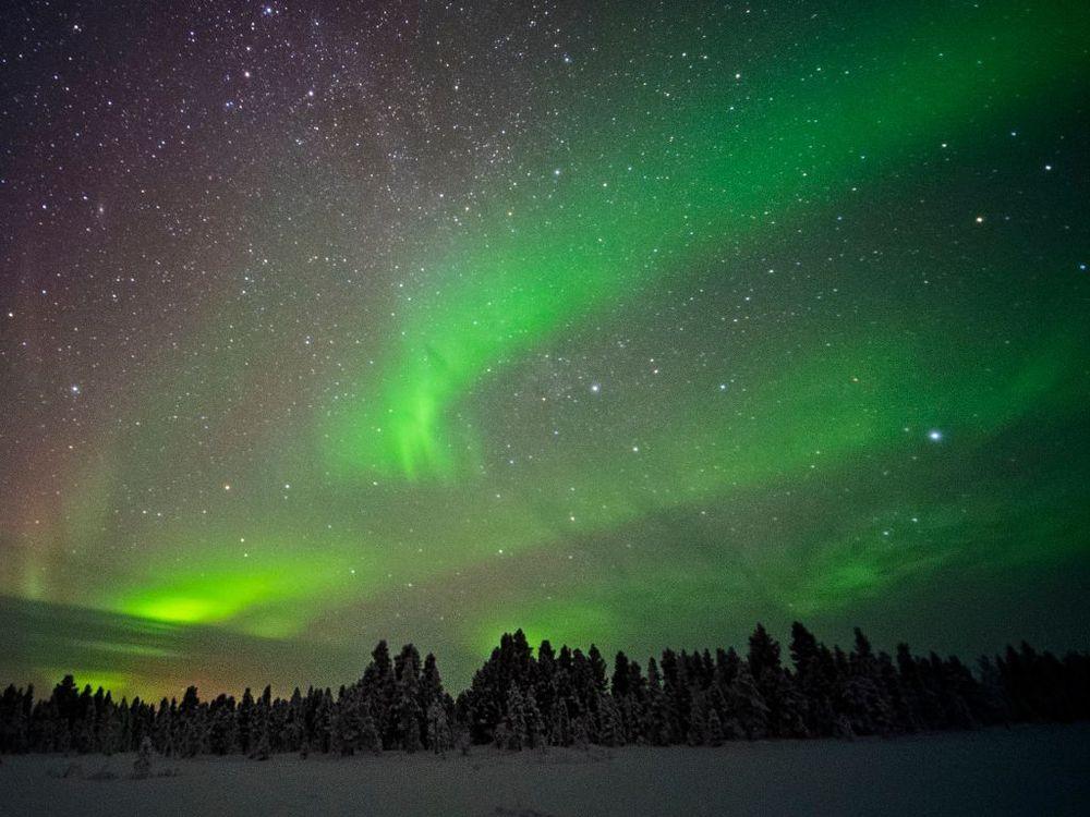 northern lights perfect photo finland iceland scandinavia
