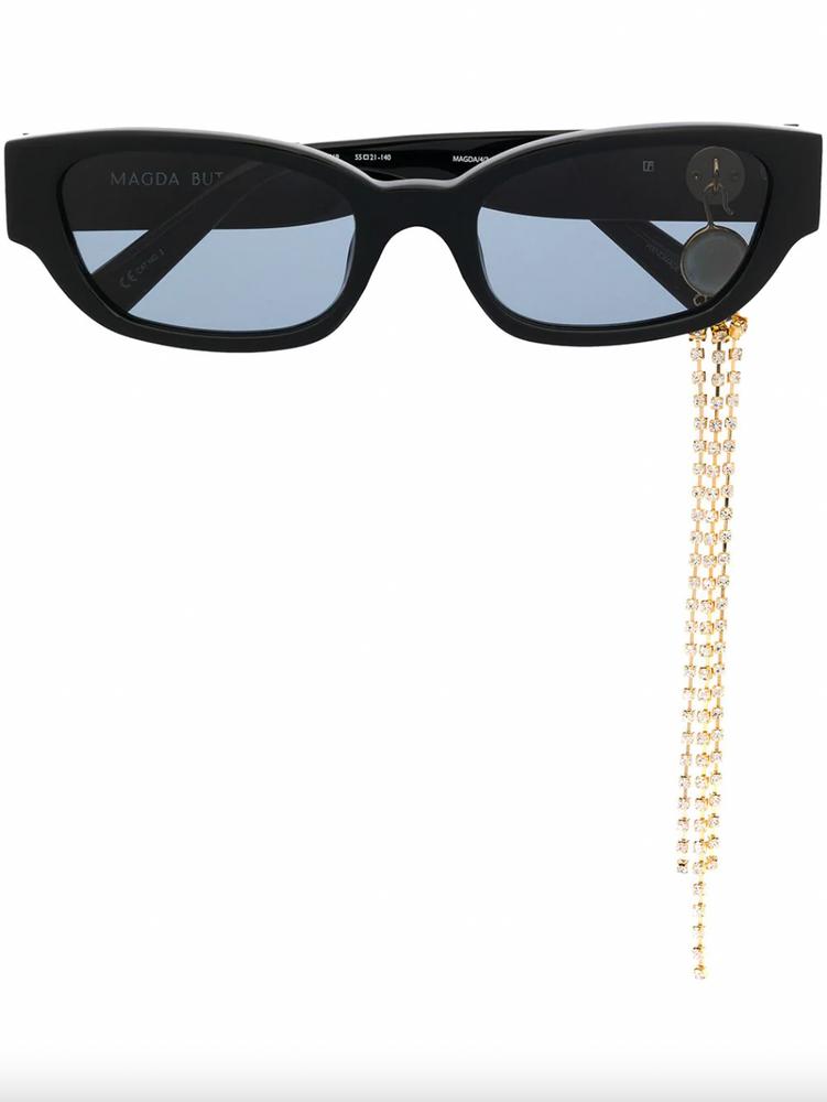 Rectangular cat-eye sunglasses