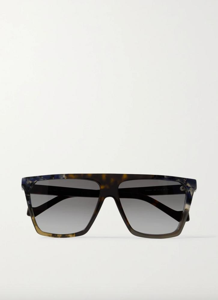 D-frame tortoiseshell aetate sunglasses