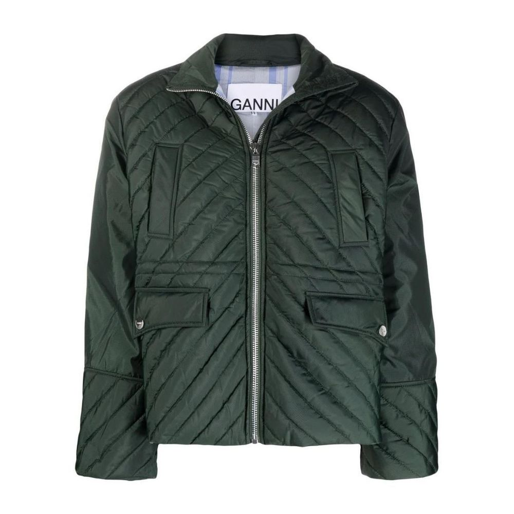 GANNI recycled ripstop quilted jacket