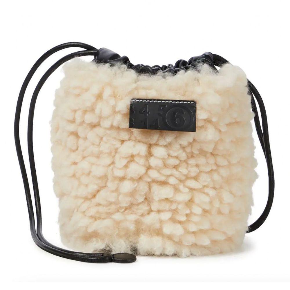 MM6 MAISON MARGIELA Faux fur bucket bag