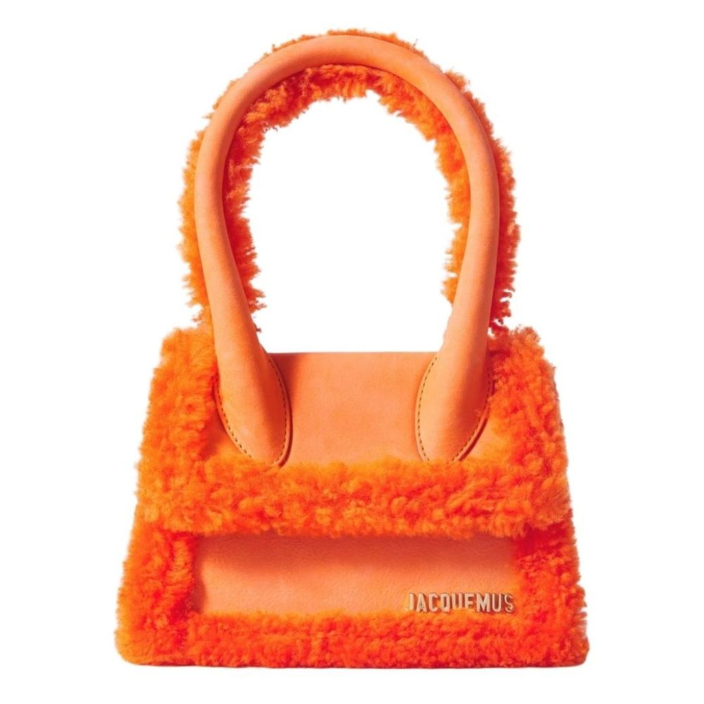 JACQUEMUS Le Chiquito Moyen shearling-trimmed leather tote