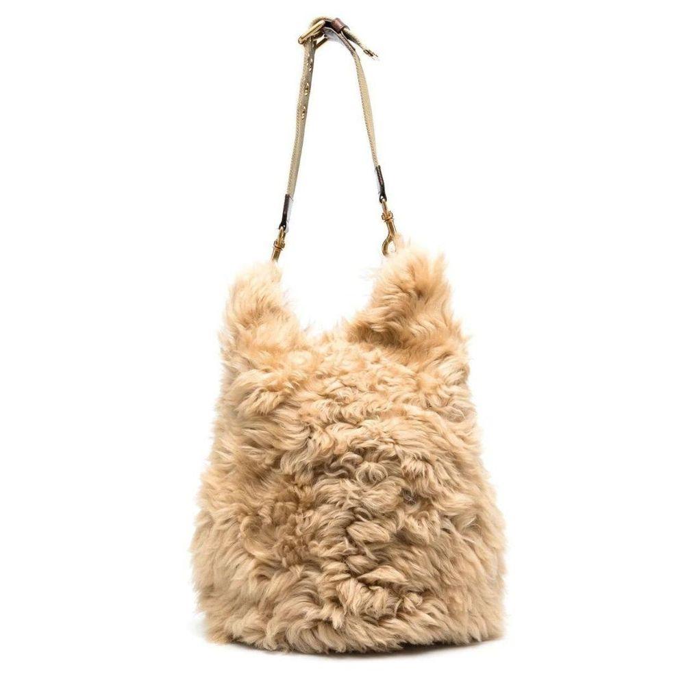 Dsquared2 shearling shoulder bag