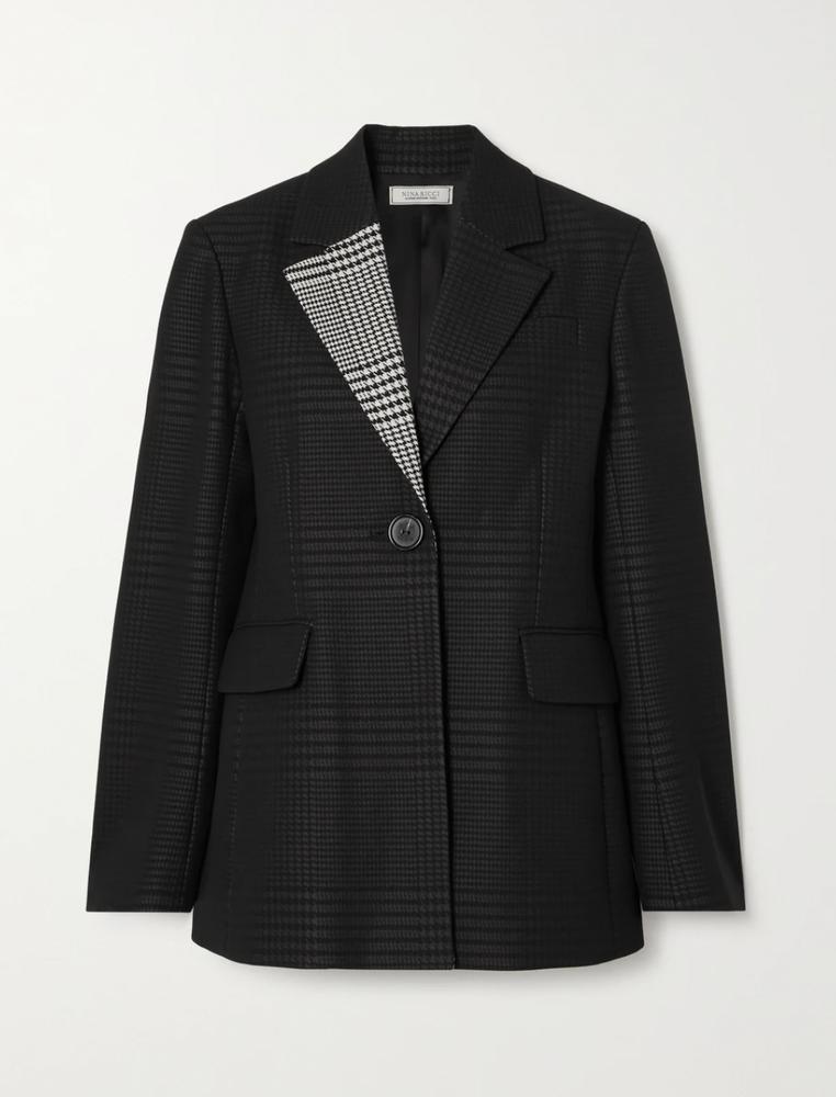 Nina Ricci Checked twill blazer