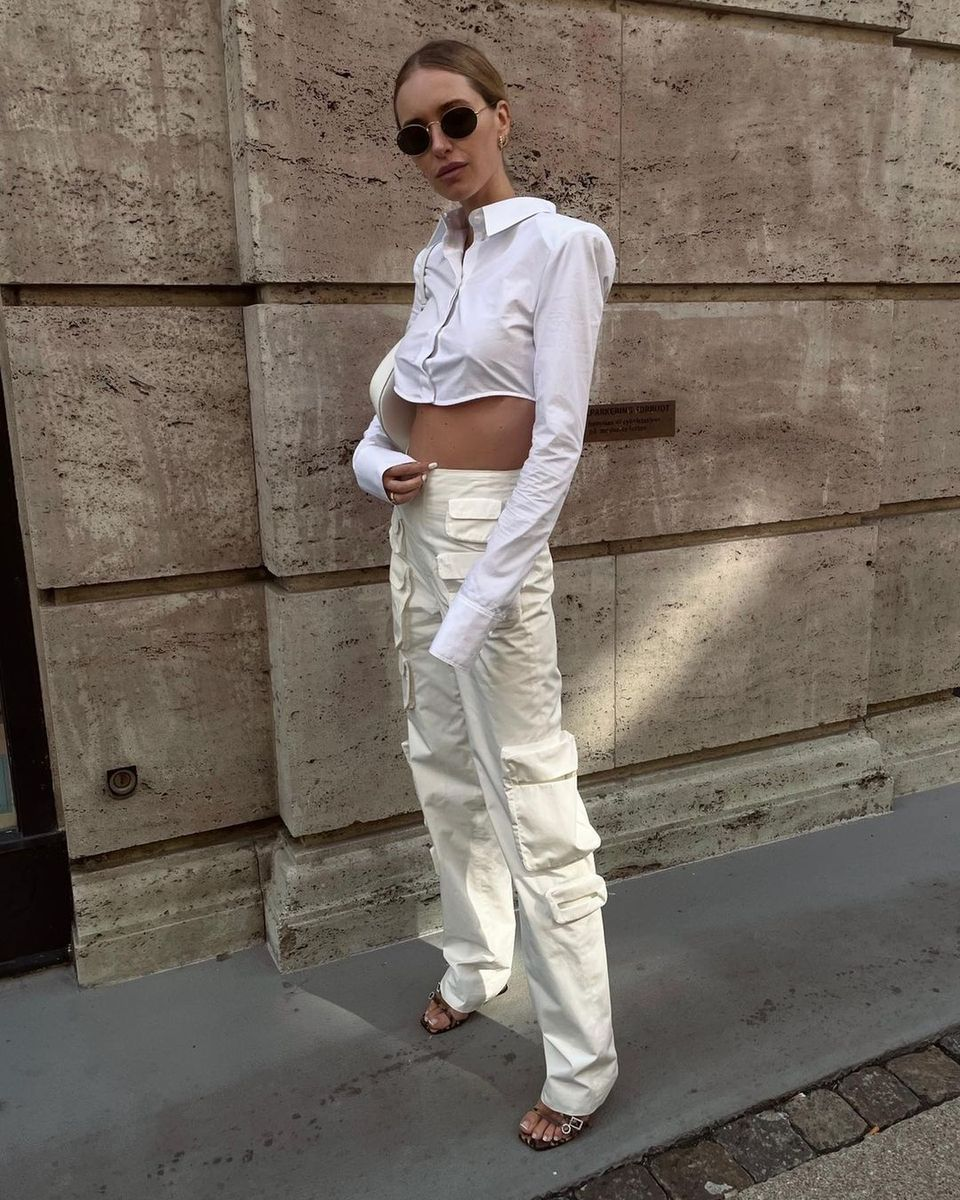 Pernille Teisbaeck in cargo trouser