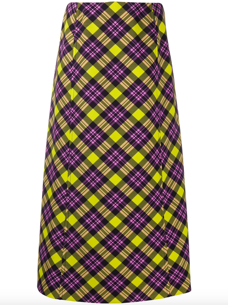 Anne checked pencil skirt