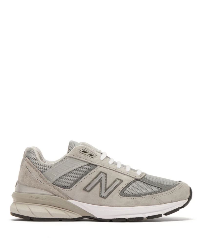 990v5 suede and mesh trainers